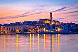 Old mediterranean town of Betina sunset view