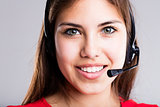 contact us says this beautiful call center girl