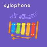 Colorful xylophone and notes.