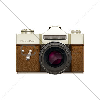 Old fashioned vintage camera.