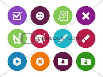 Application interface circle icons.