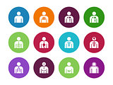 Vector medical organs system circle icons on white background.