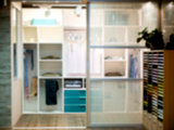 Blurred image of closet room as background