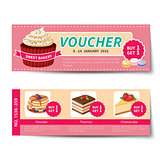 bakery voucher discount template design