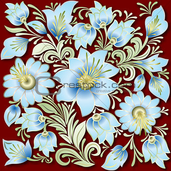 abstract vintage floral ornament