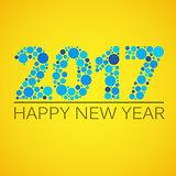 Happy new year 2017 design. Vector illustration.
