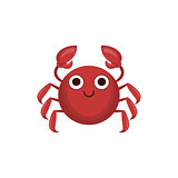 Crab Simple Cartoon Character