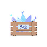 Wooden Crate With Fish