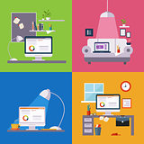 Home Office Illustrations Set