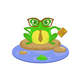 Teacher Cartoon Frog Character