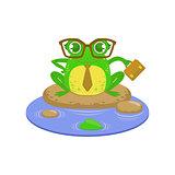 Teacher Cartoon Frog Character