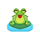 Silly Cartoon Frog Character