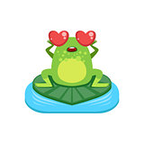 Cartoon Frog Character In Love
