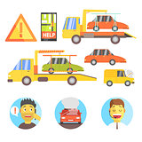 Callin For Help Evacuating The Car Infographic
