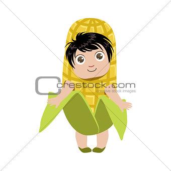 Boy Dressed As Corn
