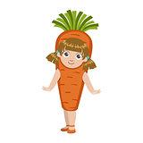 Girl Dressed As Carrot