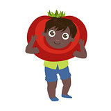 Boy Dressed As Tomato