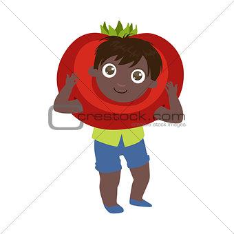 Boy Dressed As Tomato