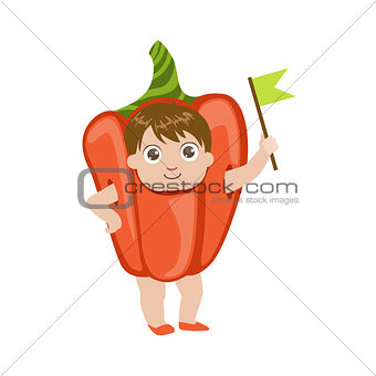 Boy Dressed As Sweet Pepper