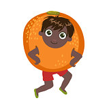Boy Dressed As Orange