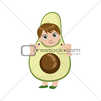 Boy Dressed As Avocado