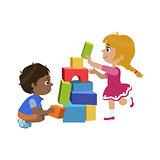 Kids Playing Bricks