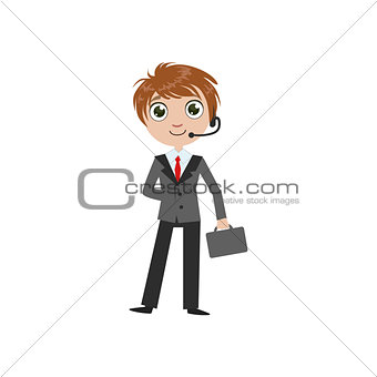 Boy Future Businessman