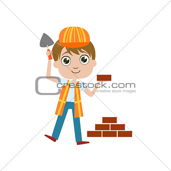 Boy Future Construction Worker