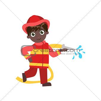 Boy Future Fireman