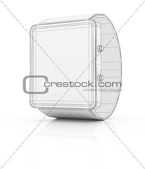 Smart watch prototype isolated on white