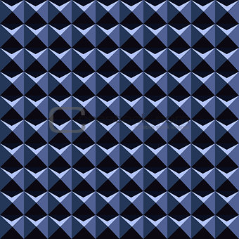 Blue 3d pattern - seamless vector background.