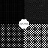 4 dotted patterns - seamless vector collection
