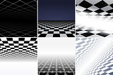 Collection of futuristic abstract backgrounds.