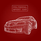 Abstract Creative concept vector background of 3d car model. Sports car.