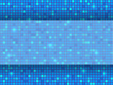 Blue pixel mosaic background. Vector illustration.
