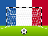 Abstract soccer background with french flag