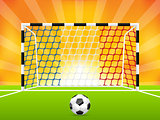 Soccer background with french flag net