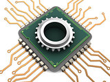 computer chip and gear
