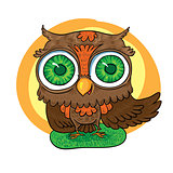 art animals. owl
