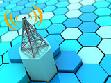 radiowaves and antenna
