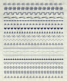 Vector Pen Drawing Pattern Brushes, Line Borders