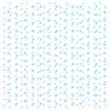 Watercolor rain. Blue drops isolated on white background.