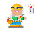 Electrician character flat design