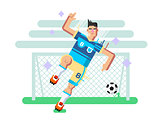 Soccer player flat design