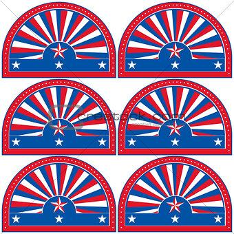 American patriotic symbol for design and decorate.