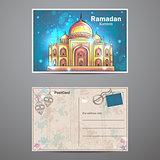 Mosque Ramadan Kareem postcard