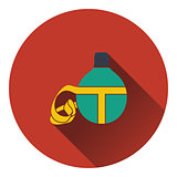 Icon of touristic flask
