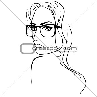 Attractive woman in eyeglasses