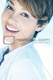 Beautiful Mixed Race Woman Laughing