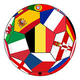Ball with flag of Belgium in the center